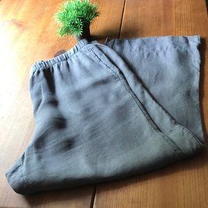J Jill grey linen ankle pants in size medium